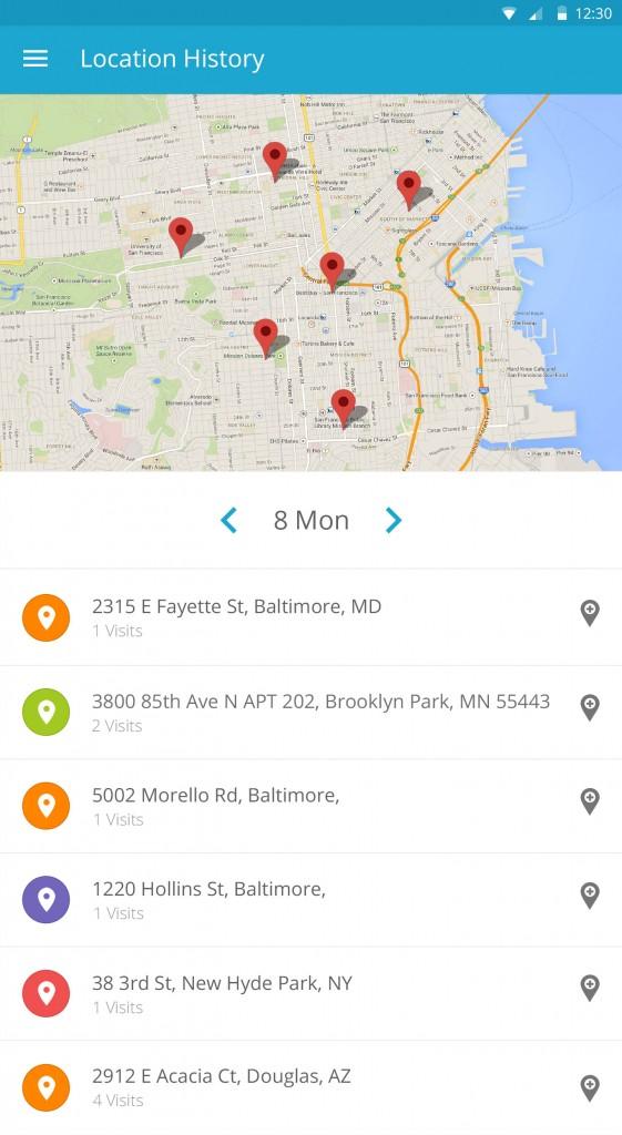 location history